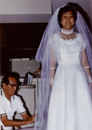 wedding dress dad
